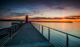 The Red Lighthouse and the Sunset