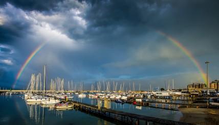 Rainbow in Civitanova Marche