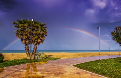 Rainbow on the Adriatic Sea